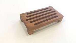 "2 Burmese Teak Soap Dishes  2 for $30.95 ""FREE DOMESTIC SHIPPING"""