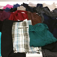 Womens Sz 18 Plus Clothes Lot 24 Piece Mixed Dresses Pants Blouses Tops Capris