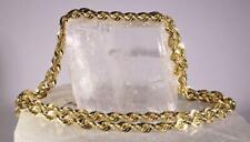 """23.7 Gram Diamond Cut Rope Chain 10 K Yellow Gold 22"""""""