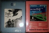 LOT OF 2 NEW SEALED TRAFFIC 8-TRACK TAPES  ON THE ROAD & WHEN THE EAGLE FLIES !!