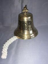 Titanic Brass Ships Wall Bell - Pub / Ship / Door / Dinner / School Hanging