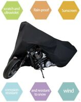 Black Motorbike Motorcycle Waterproof Outdoor Rain Vented Bike Cover XXL