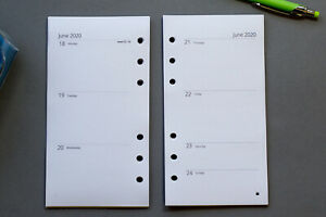Weekly 2021-2022 Organiser Refills Week to view | Personal Size | Fits Filofax
