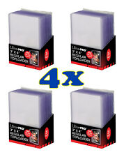 4X Ultra PRO 3x4 inch Regular Toploader - 25 Pack w/ Card Sleeves - 100 Total