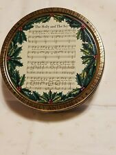 "Vintage Kelsen Danish Butter Cookies Tin ""The Holly and the Ivy"" Music sheet"