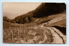 Antique WW1 GERMAN Real Photo RPPC Postcard ACRES & Rows CONCERTINA RAZOR WIRE