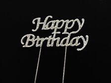 Happy BIRTHDAY CAKE TOPPER Pick Decorazione Diamante Luccicante