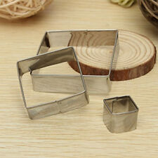 3PCS Cookies Pastry Cutter Cake Sugarcraft Decorating Biscuit Mould Baking Tools