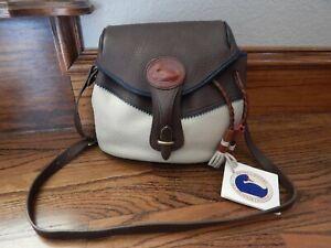 NEW Large Vintage Leather Teton DOONEY & BOURKE Leather Flap Handbag! 275.00