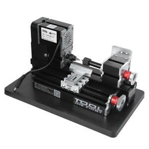 60W Mini Drehmaschine Drechselbank Bohren Metalldrehmaschine Holz Werkzeug Lathe