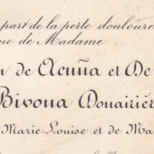 Maria Del Carmen De Acuna De Witte De Bivona Naples 1888