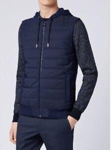 Brand New Dark Blue Hugo Boss Vest 50404331 Newest Style