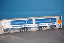 BOX16 Herpa / WDV HO/1:87 M.A.N F90 Pritschen Lastzug Hofbräuhaus München OVP