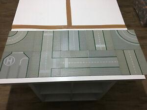 Lego Straßenplatten 10 Stück 32x32 Noppen in Hellgrau Kurven Kreuzungen Gerad