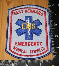 East Bernard Emergency Medical Services EMS Cloth Patch Only