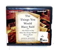 BOOK/AUDIOBOOK CD Jackie Hooper Inspiration THE THINGS YOU WOULD HAVE SAID