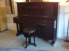 klavier schwarz mit höhenverstellbarem hocker und metronom