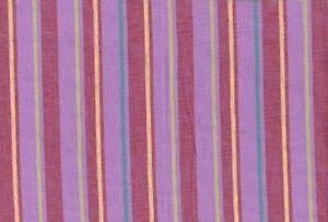 Kaffe Fassett Alternating Stripe Lavender Woven Cotton Fabric By The Yard