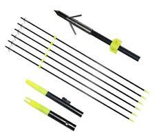 "6X 34"" Bowfishing Arrows With Broadheads Arrowhead Hunting Fish Fibergalss Shaft"