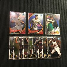 2016 BOWMAN CHROME PITSBURGH PIRATES MASTER TEAM SET 13 CARDS  WITH INSERTS