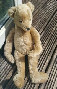 VINTAGE 1980s MERRYTHOUGHT TEDDY BEAR WITH LABEL