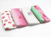 Strawberry Fruits Cute Plastic Pencil Cases Cosmetics Make Up Bags Pen Pouches