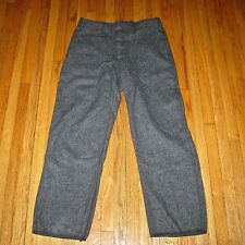 Vintage National Safety Apparel Gray Blue Wool Pants Men's 36