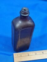 ANTIQUE Glover's Imperial Mance Medicine Distemper Cure Brown Glass Bottle H. #2