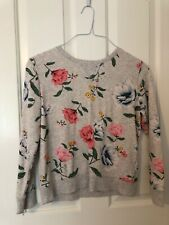 Old Navy Girls Gray Floral Sweatshirt Size 14 XL