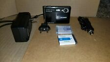 Sony Cyber-shot Dsc-T70 8.1Mp Digital Camera - Black w/2 batteries & other acc.