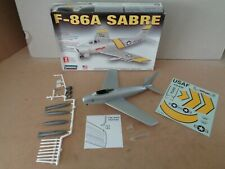 Lindberg F-86A Sabre US Aircraft Plastic Kit Built Model In 1:48 Scale , Boxed