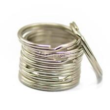 100PCS Silver Steel Key Rings Chains Split Ring Hoop Metal Loop Accessories 25mm