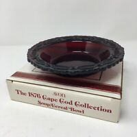 Vtg Avon CAPE COD 1876 Red Sandwich Glass Soup /Cereal Bowl w /Box Christmas