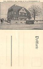 Reichenbach Vogtland Architekt Paul Reinhold Werbe Postkarte
