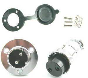 GX20 2pin Aviation Plug & Socket WD19 3 Hole Circular Connector with Cover