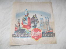 "Original 1953 Coronation Paper Bag - Long Live Her Majesty Measures 10"" x10 1/2"""