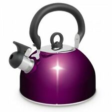 Small 3 L Stainless Steel Whistling Kettle Electric Gas Hob Camping Purple