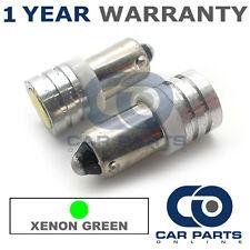 2x XENON verde BA9S T4W 233 LATERALI upgrade LED SMD LAMPADINE