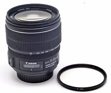 OBJETIVO CANON ZOOM LENS EF-S 18-85MM 1:3.5-5.6 IS USM + FILTRO B+W