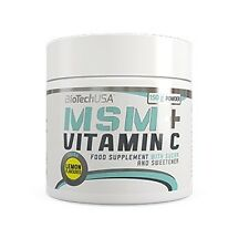 Biotech USA MSM + Vitamin C collagen nervous stress control 150g (75serv.) lemon