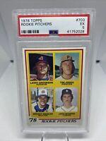 1978 Topps #703 Rookie Pitchers Jack Morris RC PSA 5 EX HOF Detroit Tigers