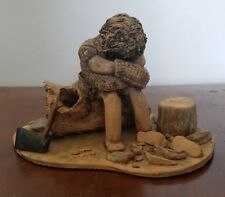 Beautiful Wood Cutter by Pat Jeffs The Exmoor Pottery       (pt42)