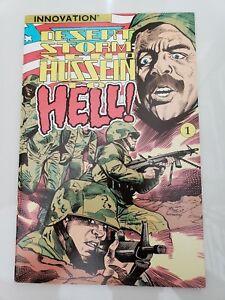 DESERT STORM: SEND HUSSEIN TO HELL! BOOKSHELF FORMAT #1 INNOVATION 1991 RARE!