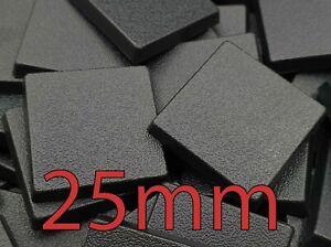 25mm Square Bases Wargame Wargames Base Warhammer Plastic