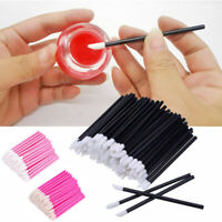 50xEinweg Lippenpinsel Applikator für Lippenstift Lipstick Lipgloss Lippenpflege