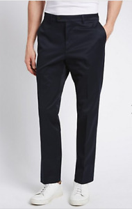 M&S Collection Modern  Slim Fit Wrinkle Free Chino ~ Navy