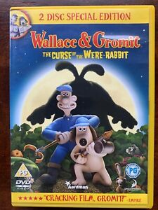 Wallace and Gromit Curse of the Were-Rabbit DVD Aardman Family Kids Movie 2 Disc