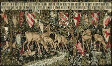 Gobelin Stoff Tapisserie Tapestry Paneele Textilbild ohne Rahmen  112x74cm #79