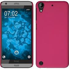 Hardcase HTC Desire 530 rubberized hot pink Cover + protective foils