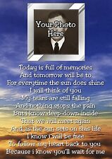 Personalised Photo Graveside Poem Memorial Card with Free Ground Stake F14